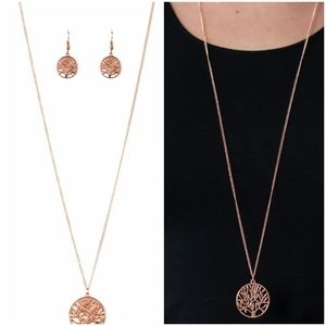 SAVE THE TREES COPPER NECKLACE/EARRING SET